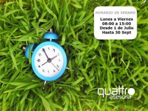 Quattroasesoria vigo nota de aviso horario de for Convenio colectivo oficinas y despachos pontevedra