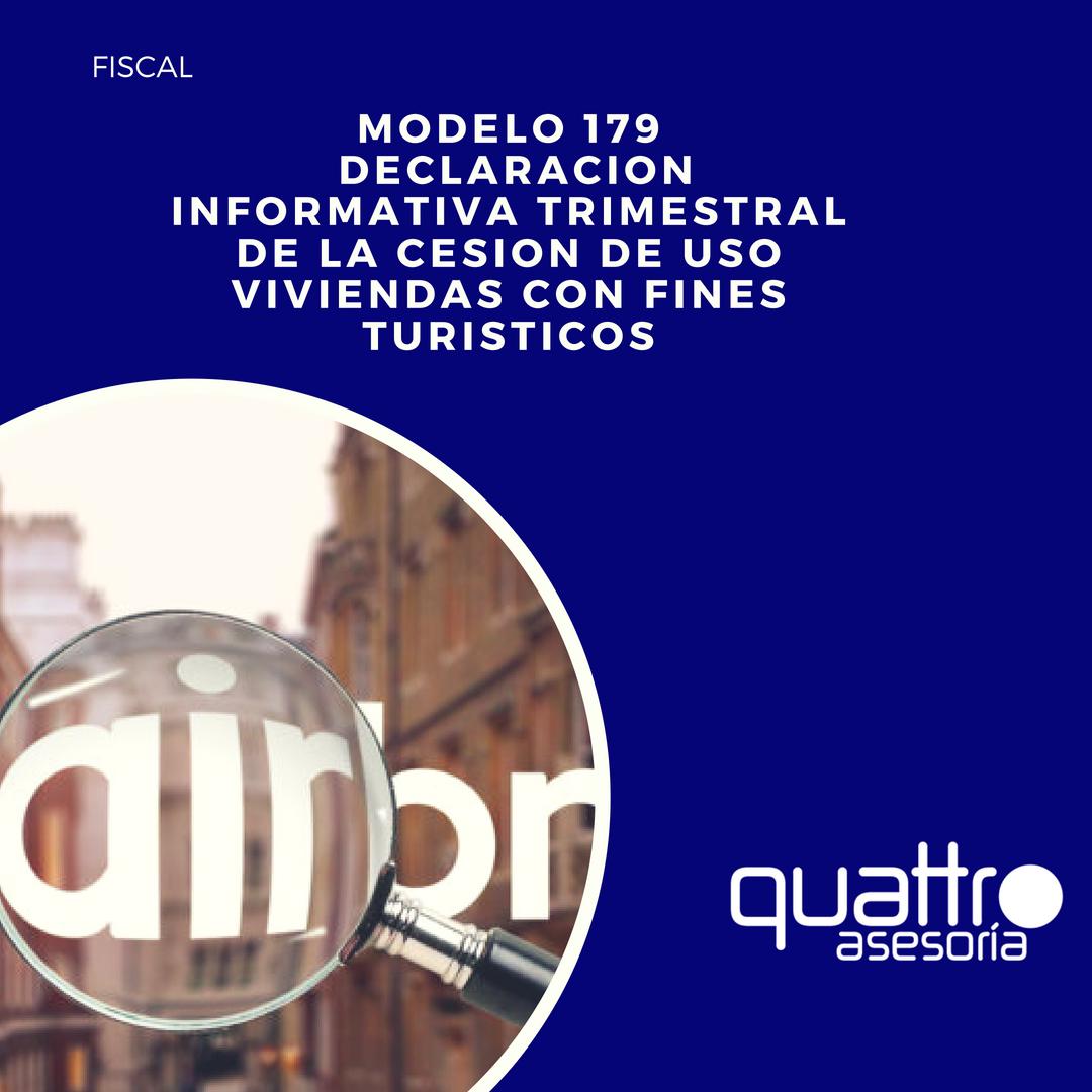 NOTA DE AVISO Modelo 179 alquileres turisticos - Aprobada el Modelo 179 de Declaracion Informativa de cesion de uso de viviendas turisticas