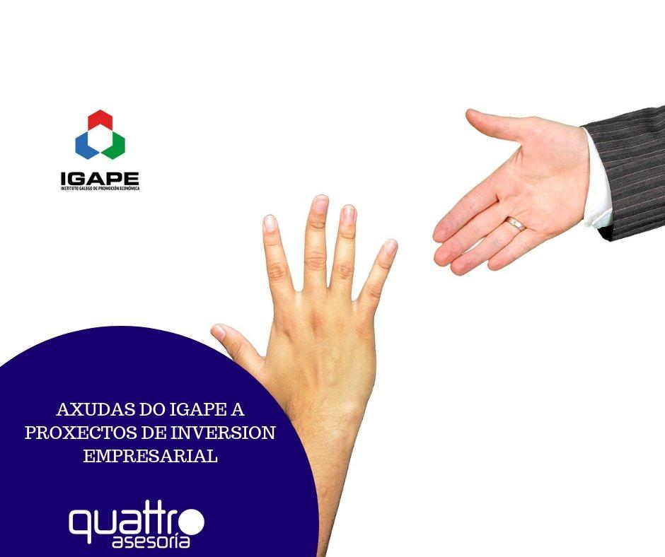 subvencion IGAPE - AXUDAS DO IGAPE A PROXECTOS DE INVERSION EMPRESARIAL
