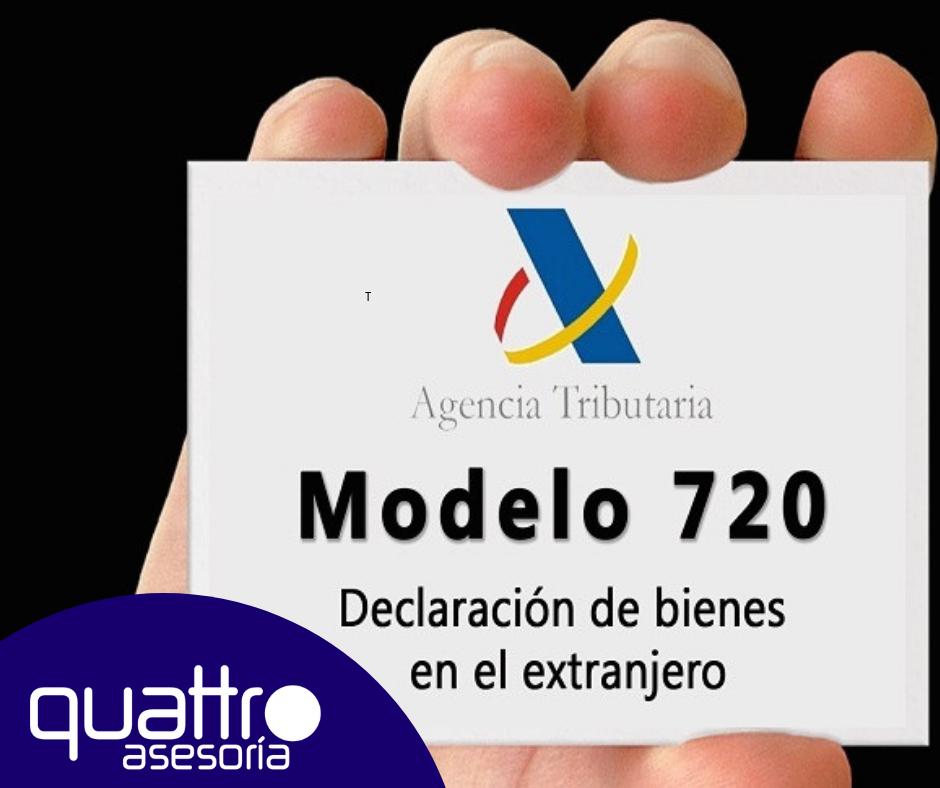 NOTA DE AVISO Modelo 720 - NOTA DE AVISO - DECLARACION DE BIENES EN EL EXTRANJERO - MODELO 720