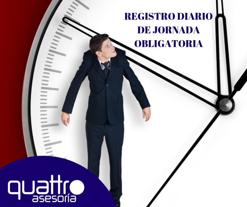 NOTA DE AVISO REGISTRO DIARIO DE JORNADA OBLIGATORIA - NOTA DE AVISO - REGISTRO DIARIO DE JORNADA OBLIGATORIA