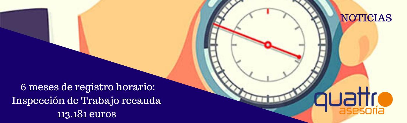 Noticia Recaudacion 6 meses Inspeccion Control de Presencia 27012020 Post banner - Medio año con el registro horario: la Inspección de Trabajo multa a 107 empresas con 113.181 euros