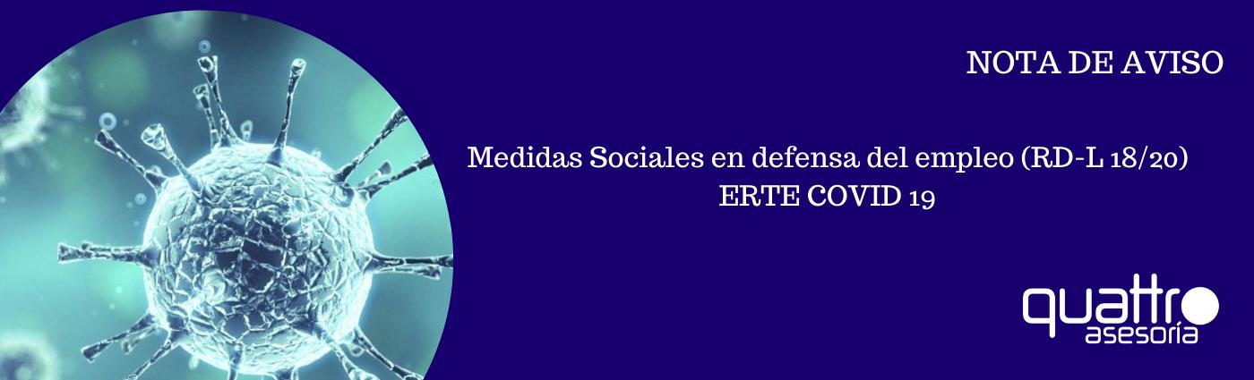 NOTA DE AVISO Medidas Sociales en defensa del empleo 14052020 BANNER - MEDIDAS SOCIALES EN DEFENSA DEL EMPLEO (RD-L 18/20) OTRA REFORMA DE CALADO – ERTE COVID19 – DURACION Y CONDICIONES