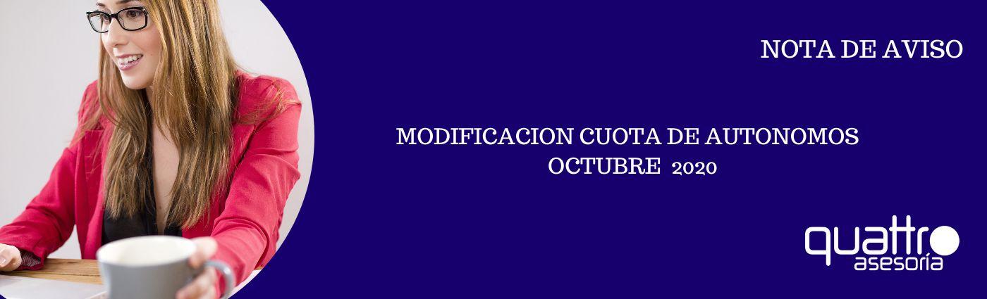 NOTA DE AVISO Actualizacion cuota autonomos 2020 29102020 banner - NOTA DE AVISO - URGENTE MODIFICACION CUOTA DE AUTONOMOS – OCTUBRE 2020