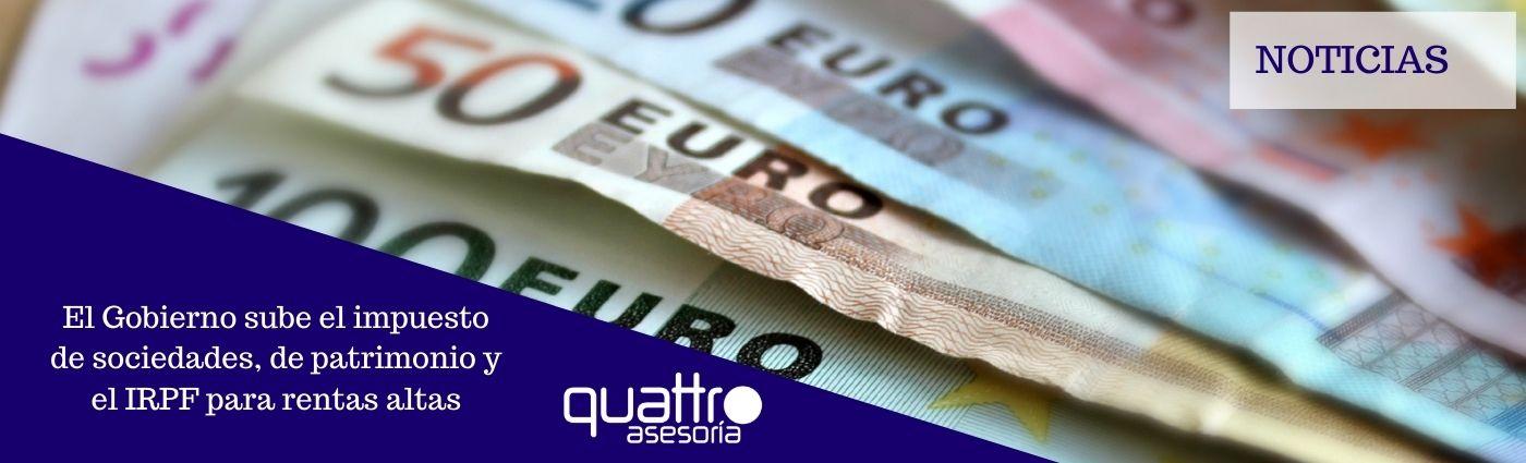 noticias y notas de aviso banner linkedin - El Gobierno sube el impuesto de sociedades, de patrimonio y el IRPF para grandes fortunas