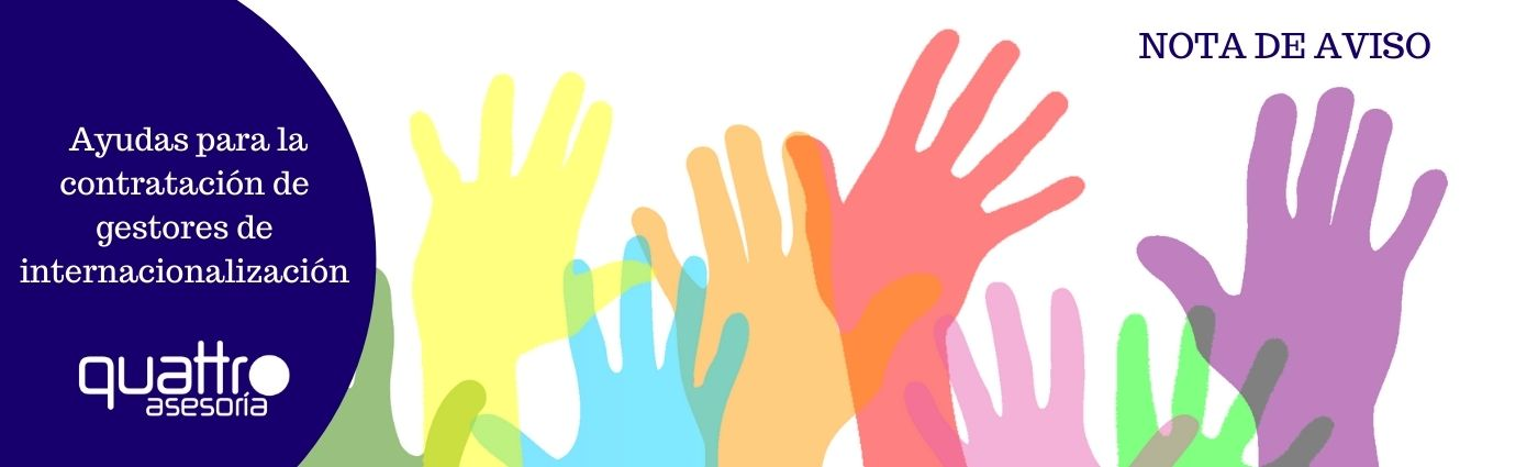 NOTA DE AVISO Ayudas a la contratacion de gestores de internacionalizacion - Ayudas para la contratación de gestores de internacionalización