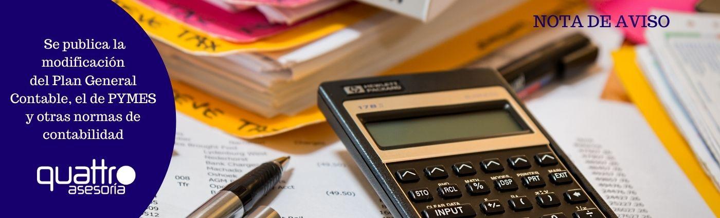 Recomendaciones a tener en cuenta antes de final de ano para la RENTA 2020 22 - Se publica la modificación del Plan General Contable, el de PYMES y otras normas de contabilidad