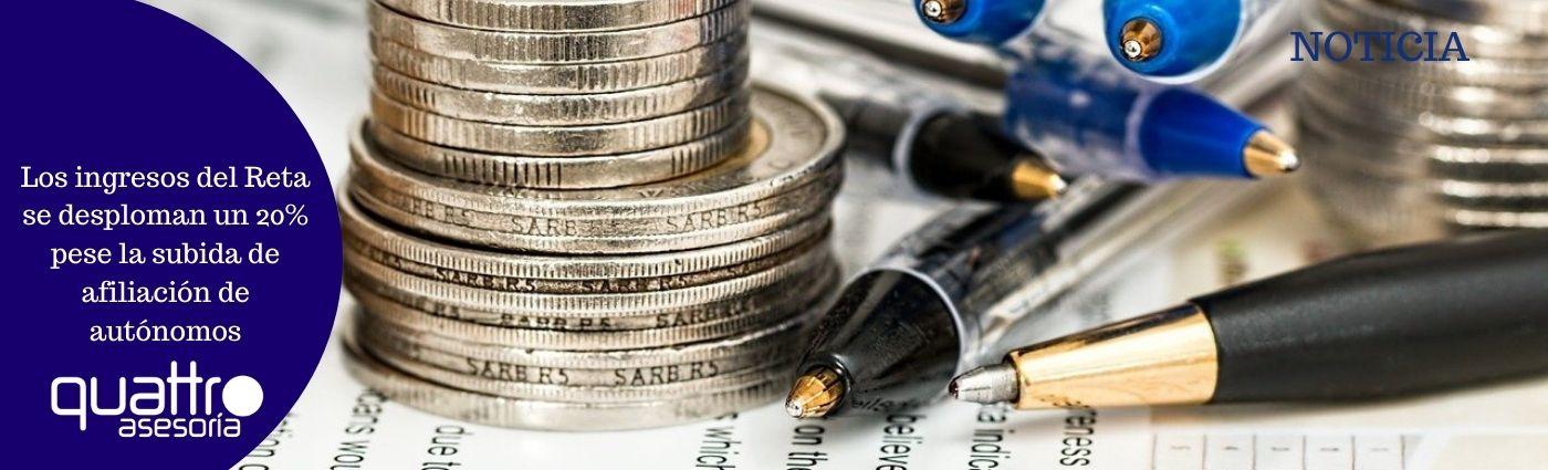 Los ingresos del Reta se desploman un 20 pese la subida de afiliacion de autonomos - Los ingresos del Reta se desploman un 20% pese la subida de afiliación de autónomos